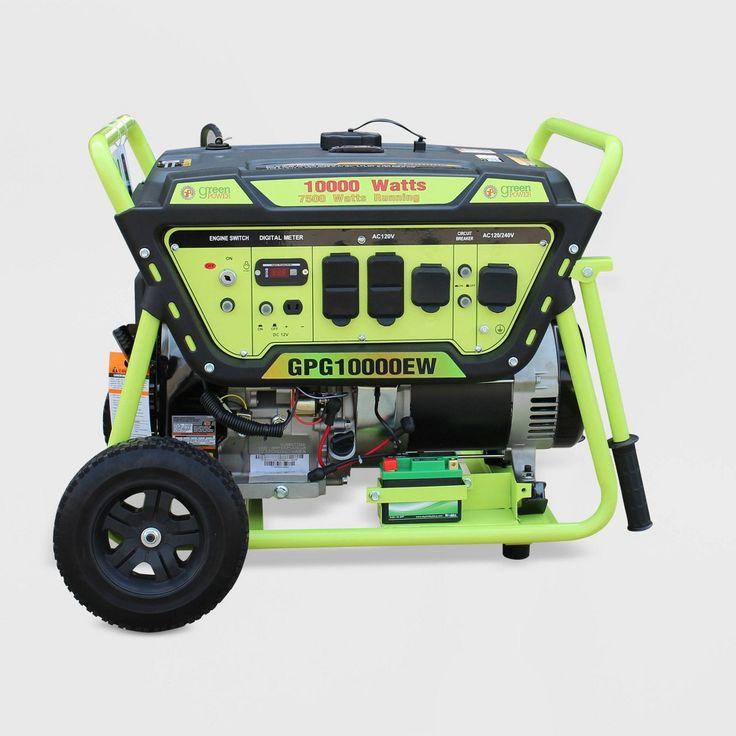 10000W Electric Start Generator Green GreenPower