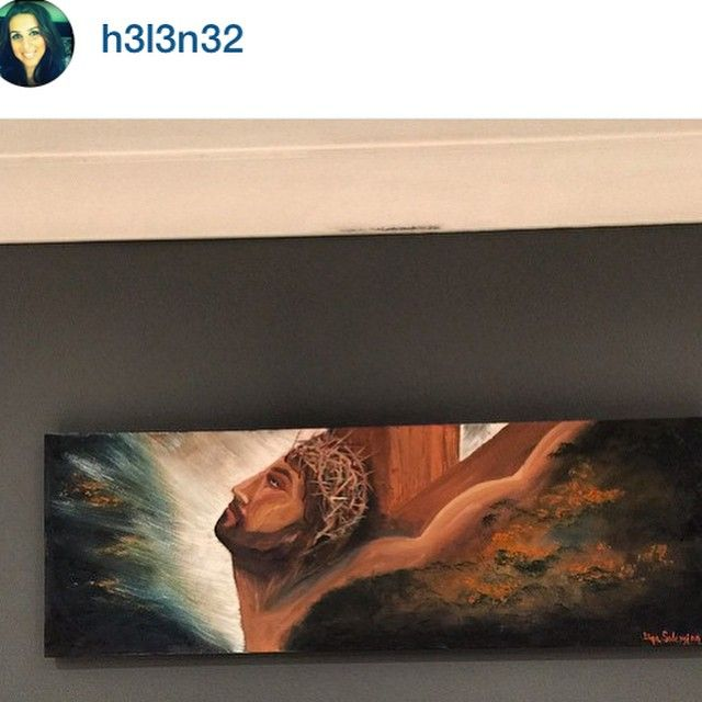 """""""At its #beautiful #home  #oilpainting #Jesus #instagram #instagramart arts_gallery"""" Photo taken by @dinasart_74 on Instagram, pinned via the InstaPin iOS App! http://www.instapinapp.com (04/30/2015)"""