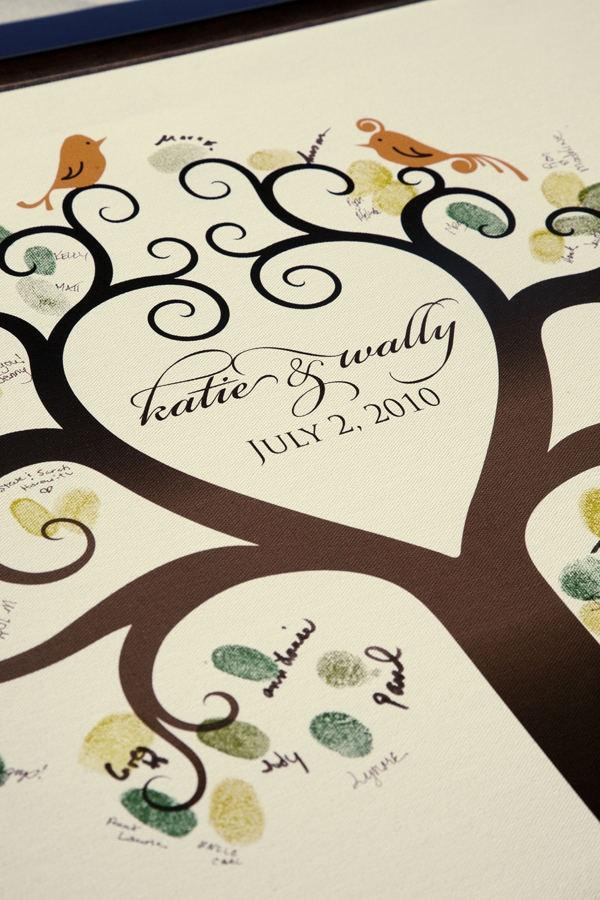 wedding keepsakes you ll love to keep on display wedding guest tree thumbprint tree and weddings