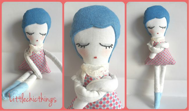 "Meet ""Moody"", the Pretty Ritty Handmade Soft Doll by Littlechicthings. Hope you like her. Follow me on Pinterest, FB, Wordpress and Blogspot. Thanks!"