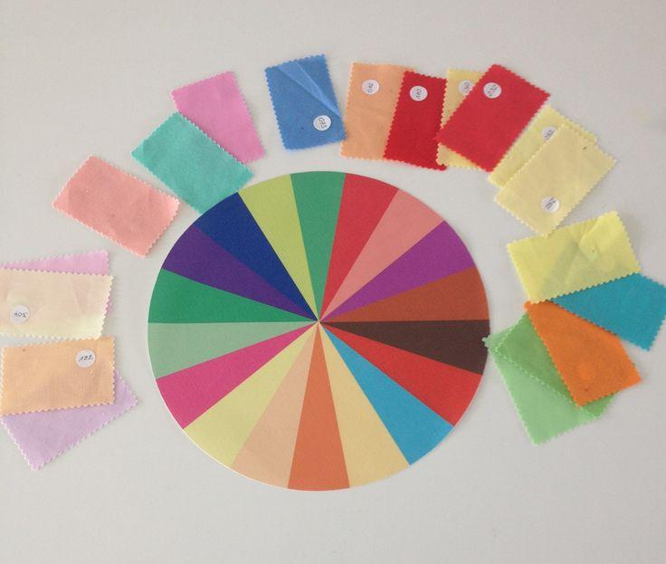 Kleurschijf Lente : leuk als decoratie of te gebruiken voor sorteeroefening