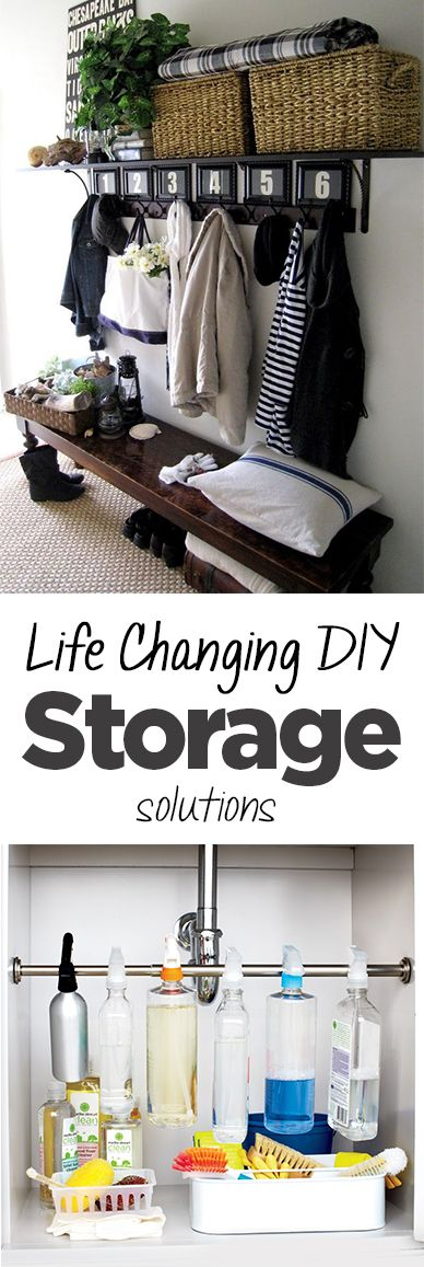 DIY storage, storage solutions, easy storage solutions, popular pin, DIY organization, home storage.