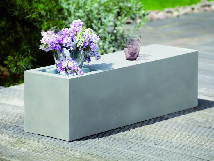 jan kurtz bank mit zinkwanne beton kaufen im borono online. Black Bedroom Furniture Sets. Home Design Ideas