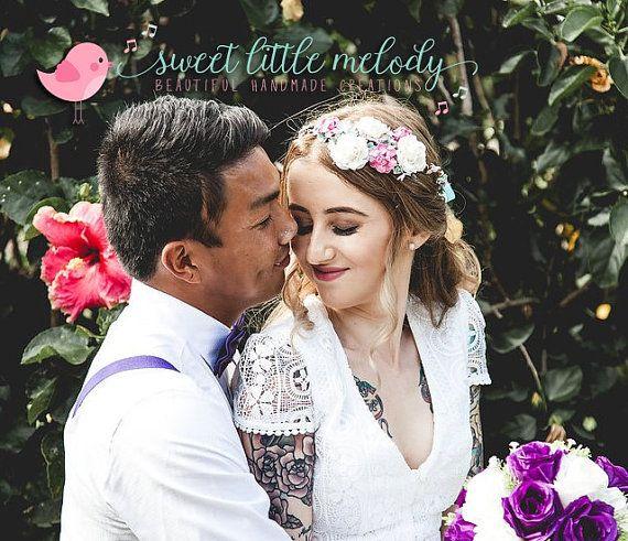 Bridal Flower Crown Bride Flower Crown by SweetLittleMelody