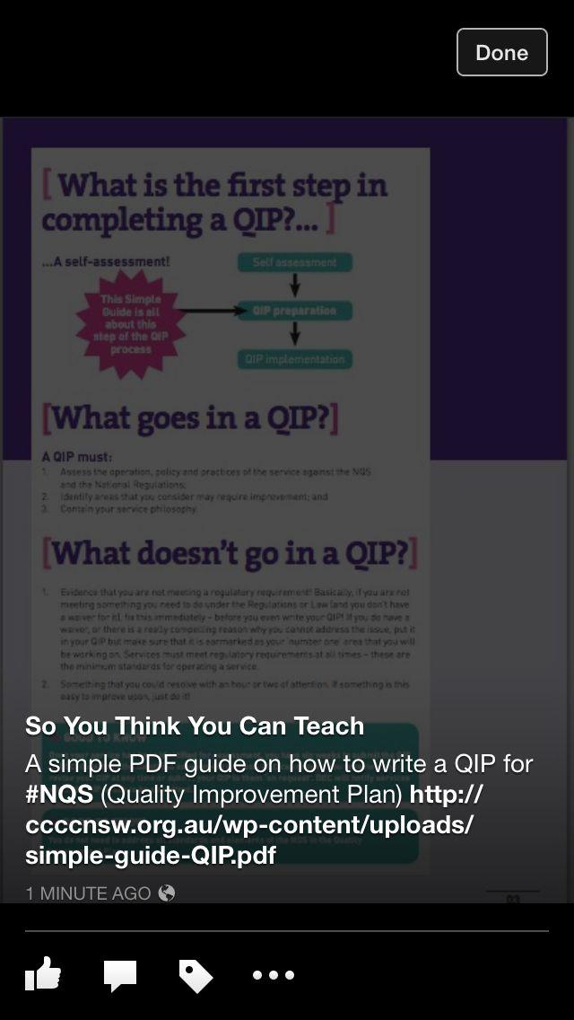 QIP ideas