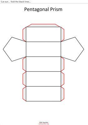 prisma pentagonal para recortar