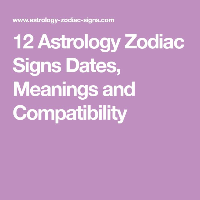 12 Astrology Zodiac Signs Dates, Meanings and Compatibility