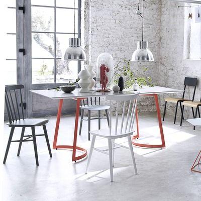 Table rectangulaire bois et pieds métal CORAIL prix 3 Suisses 449.99 € TTC
