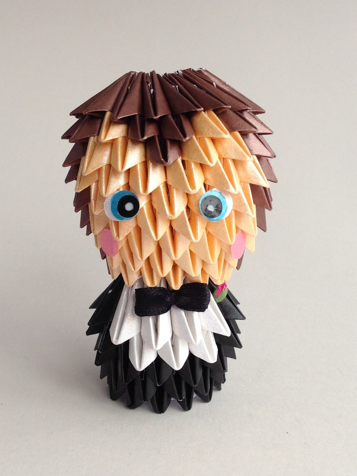 Origami Groom  100% Handmade from paper  www.memyselfandte.com