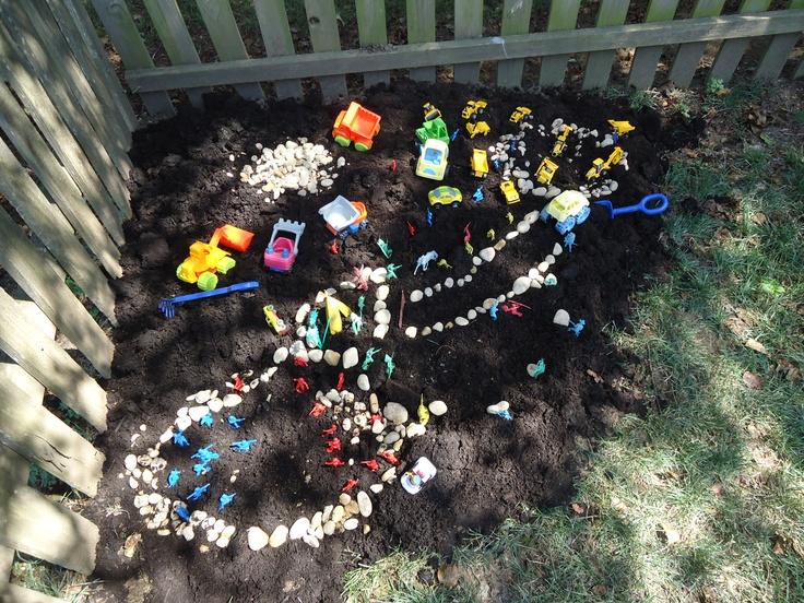 Children's garden, play garden, playscape, dirt garden
