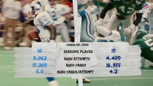 Two of the best to ever do it. Barry Sanders. Emmitt Smith.  Who ya got? #DETvsDAL