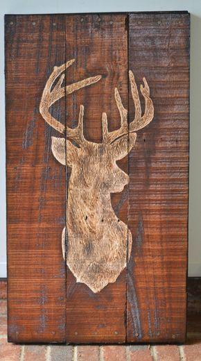 Hirsch Buck Paletten Holz Kunst Palette von HarveyPalletDesigns