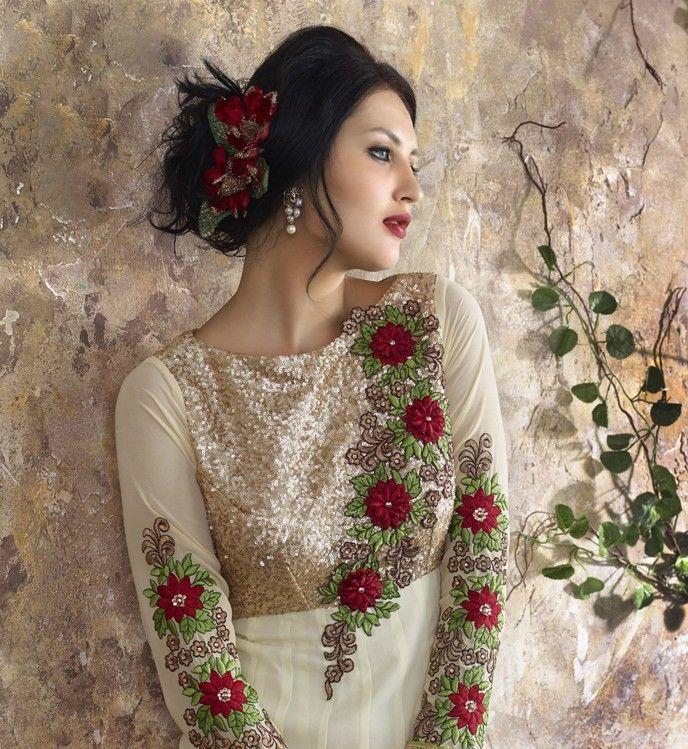 White Designer Anarkali Dress  https://www.ranafashions.in/salwar-suits/white-designer-anarkali-dress.html