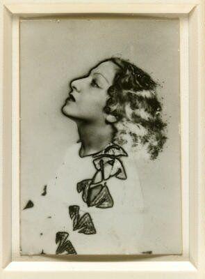 Solarized portrait of Valentine Hugo, 1935
