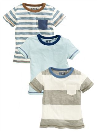 Buy Blue Short Sleeve Stripe T-Shirts Three Pack (3mths-6yrs) online today at Next: Belgium, 15euro.