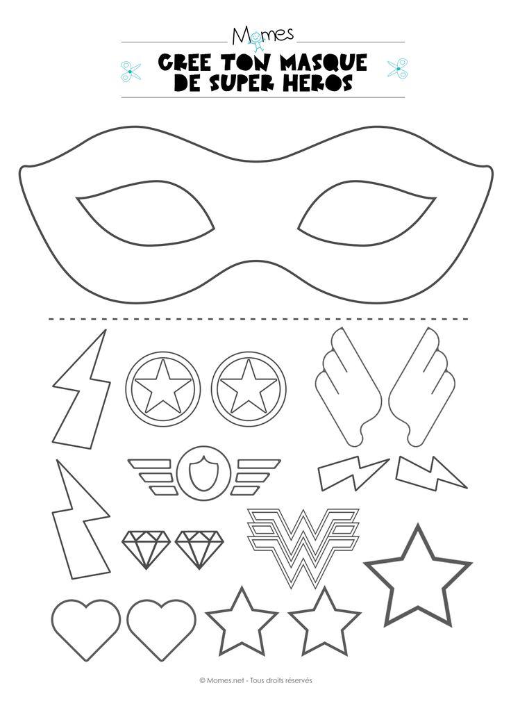 Devenir un super héros ou une super héroïne, n'aura jamais était aussi créatif qu'avec ce kit à imprimer pour créer son propre masque ! Ce sont les enfants qui décident de tout et personnalisent leur héros ! Idéal pour animer un atelier lors d'un anniversaire Super Héros !