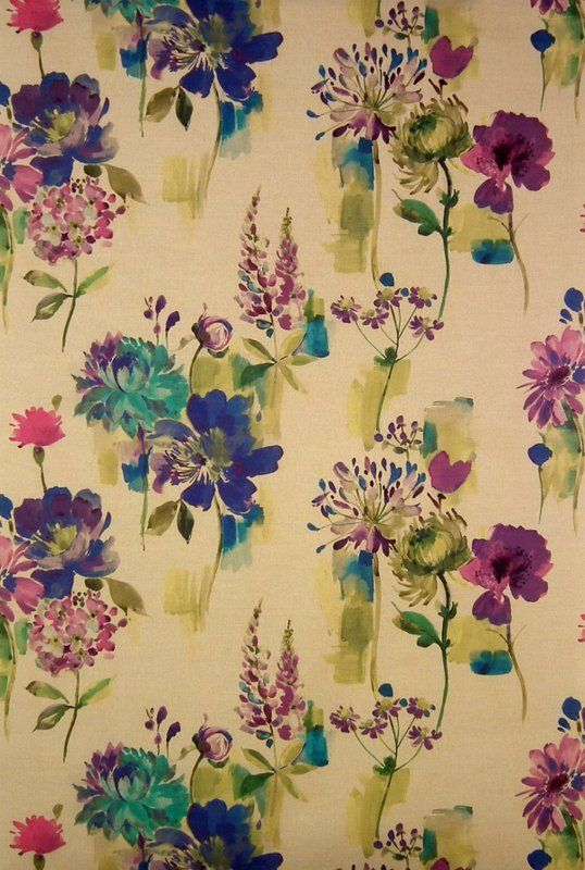 Painted Garden Fabric | Art & Soul Fabric Collection | James Dunlop Fabrics