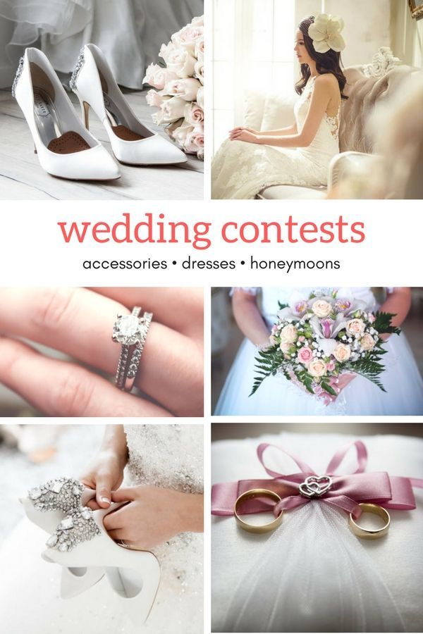 Learn where to enter free wedding contests to get pretty wedding accessories, free wedding dresses, and free honeymoons. Enter to win wedding freebies at http://www.sipbitego.com/wedding-contests-and-giveaways-2017/