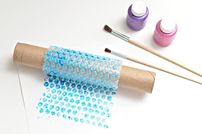 Riciclo del pluriball per creare un timbro fai da te | DIY stamp made with pluriball • #DIY #stamp #pluriball #recycle