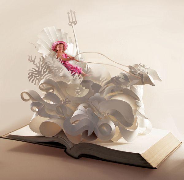 paper sculpture by hazel buchan, via Behance