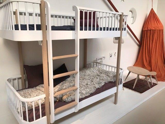 Wood White/oak Bunk Bed Ladder Front - Oliver Furniture