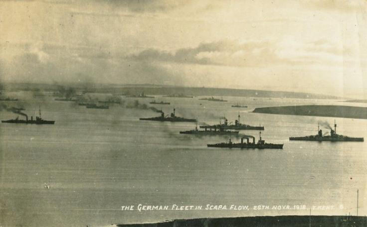 The German WW1 battle fleet scuttled at Scapa Flow in 1919 - http://www.warhistoryonline.com/war-articles/the-german-ww1-battle-fleet-scuttled-at-scapa-flow-in-1919.html