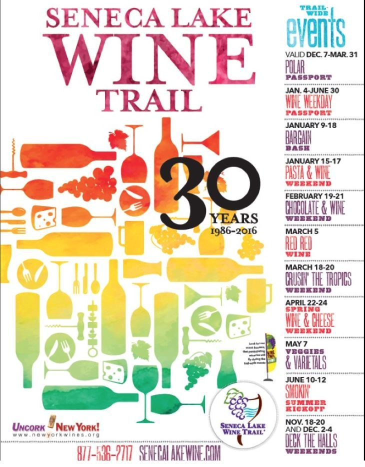 Seneca Lake Wine Trail Chocolate & Wine Weekend: Enjoy Wines from 30 Finger Lakes Wineries – Details Here!