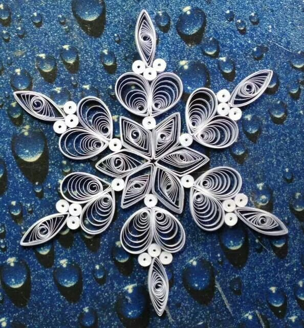 Love this pattern for quilled snowflake.