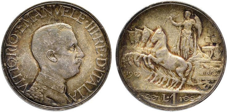 NumisBids: Nomisma Spa Auction 50, Lot 453 : Vittorio Emanuele III (1900-1946) Lira 1907 Prova – P.P. 255 AG...