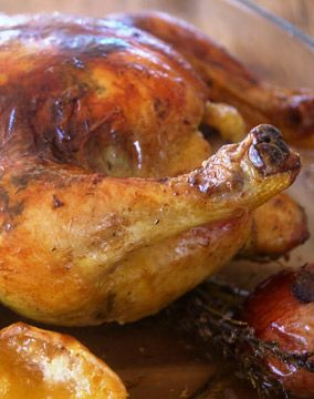 Rosemary, Lemon & Garlic Roast Chicken- this makes me want to eat MEAT!!!!