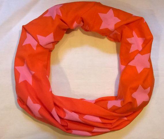 Sciarpa a 8 in cotone biologico arancione con stelle di Vestobio