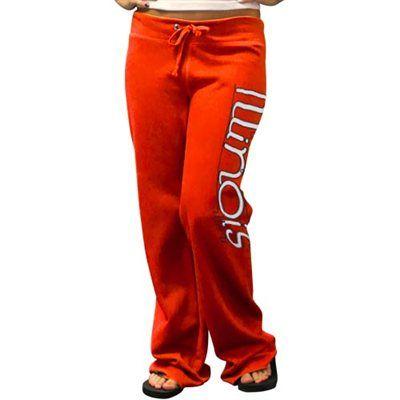Illinois Fighting Illini Ladies Orange Rugby Fleece Pants