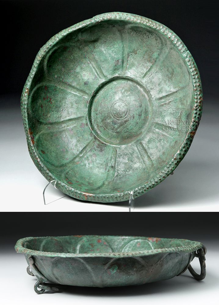 Roman Bronze Basin Roman Early Imperial Period Ca 1st To 2nd Century Ce A Large Cast Bronze Vessel Roun Roman Artifacts Ancient Pompeii Ancient Artefacts