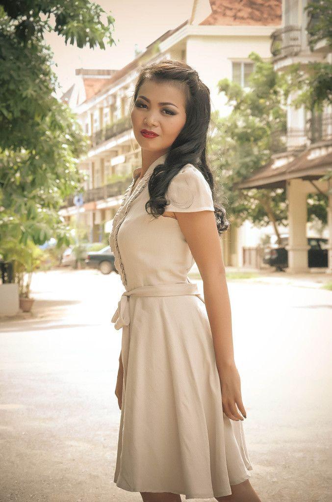 OUN Cream Cotton Shirt Style Dress