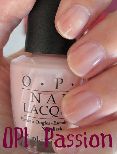 OPI Passion ~ my current favourite. Two to three coats gets a perfect opaque pink