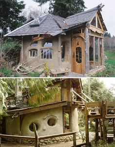 Sweet mini-homes made of cob---buy some property and build one of these<3