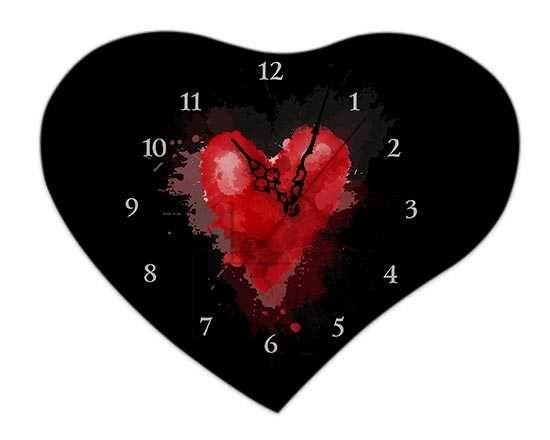 Orologio Cuore Legno 36x30 Red heart