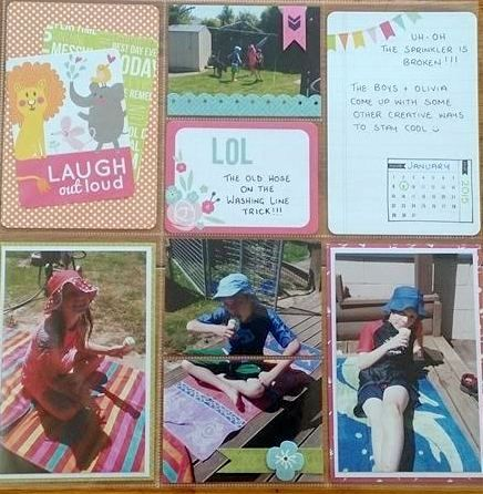 Pocket Scrapbooking with cheerful Kaiser ranges.
