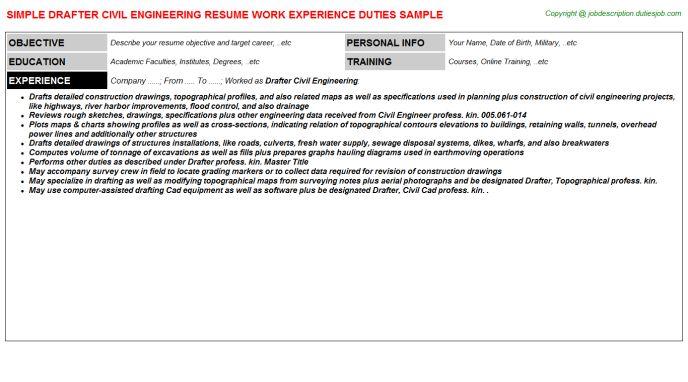 Civil Engineer Job Description Resume - http\/\/wwwresumecareer - engineering resume objective