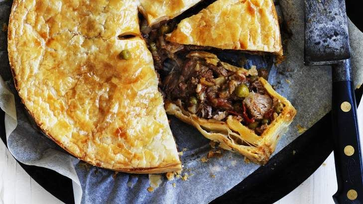 Adam Liaw's Easter lamb and pea pie.