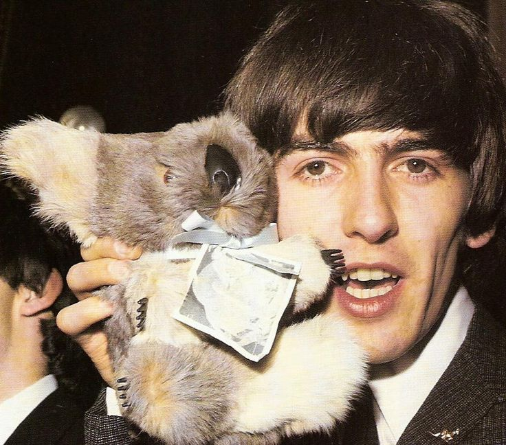 George with Australian souvenir 1964, OMG I HAVE A KOALA DOLL JUST LIKE THAT!!!!!!!!!!!!