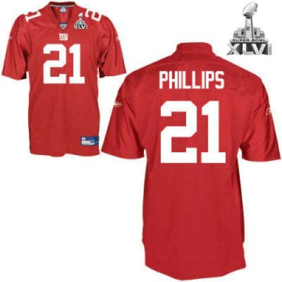 new york giants 21 kenny phillips red 2012 super bowl jersey