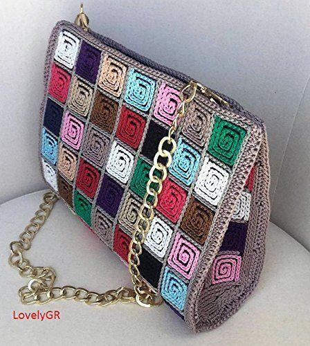 Amazon.com: Handmade Crocheted Multi Color Women Shoulder Bag 5 mm Plastic Canvas Polypropylene Cordon: Handmade
