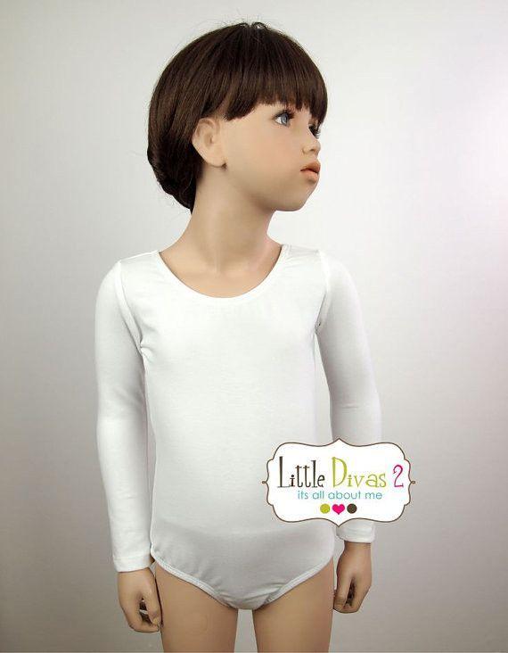 WHITE LEOTARD (Child) Long Sleeve