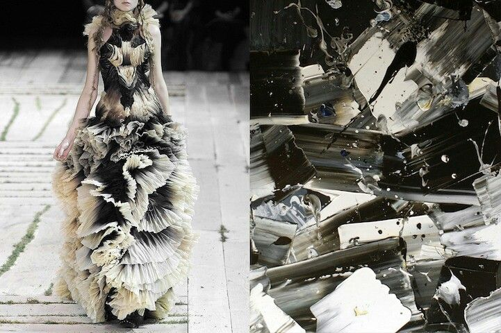 Crystal Black an white inspired dress
