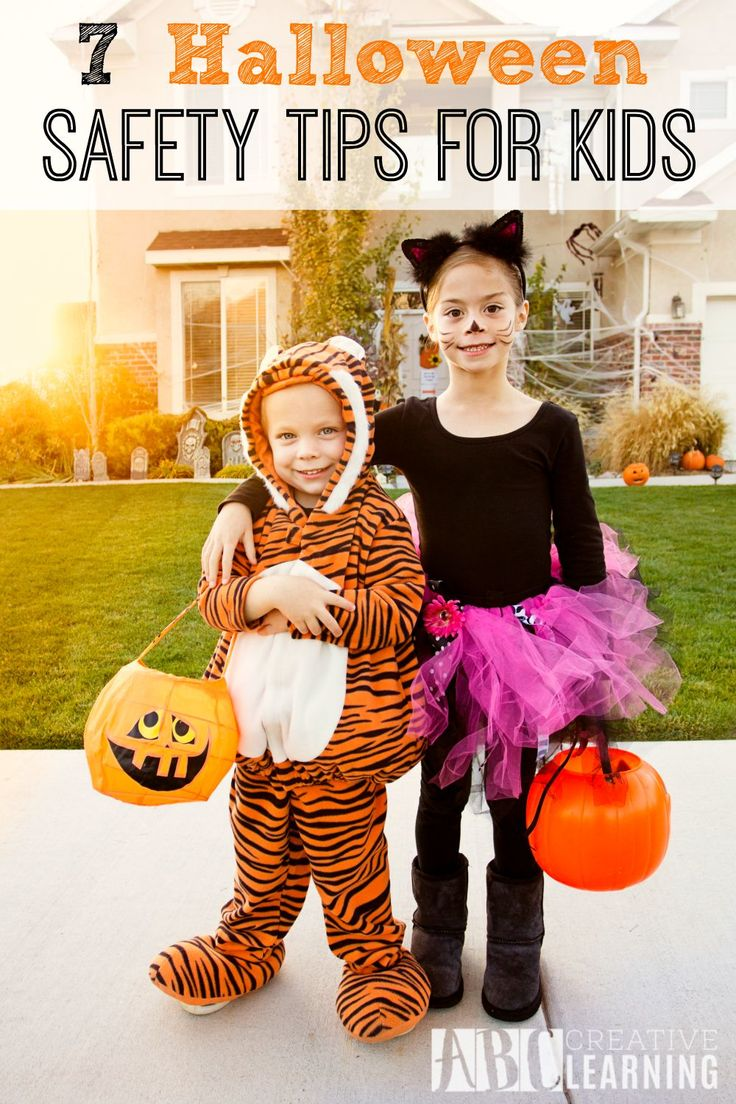 7 Halloween Safety Tips For Kids and Parents! Halloween is fun, but taking a few safety precautions makes it even better! - abccreativelearning.com