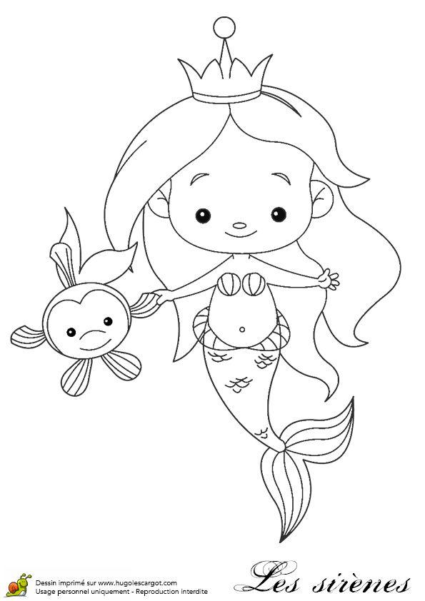 Petite Sirene Et Son Copain Poisson, page 4 sur 16 sur HugoLescargot.com