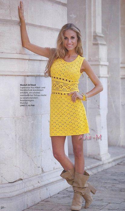 dress w/chart crochet