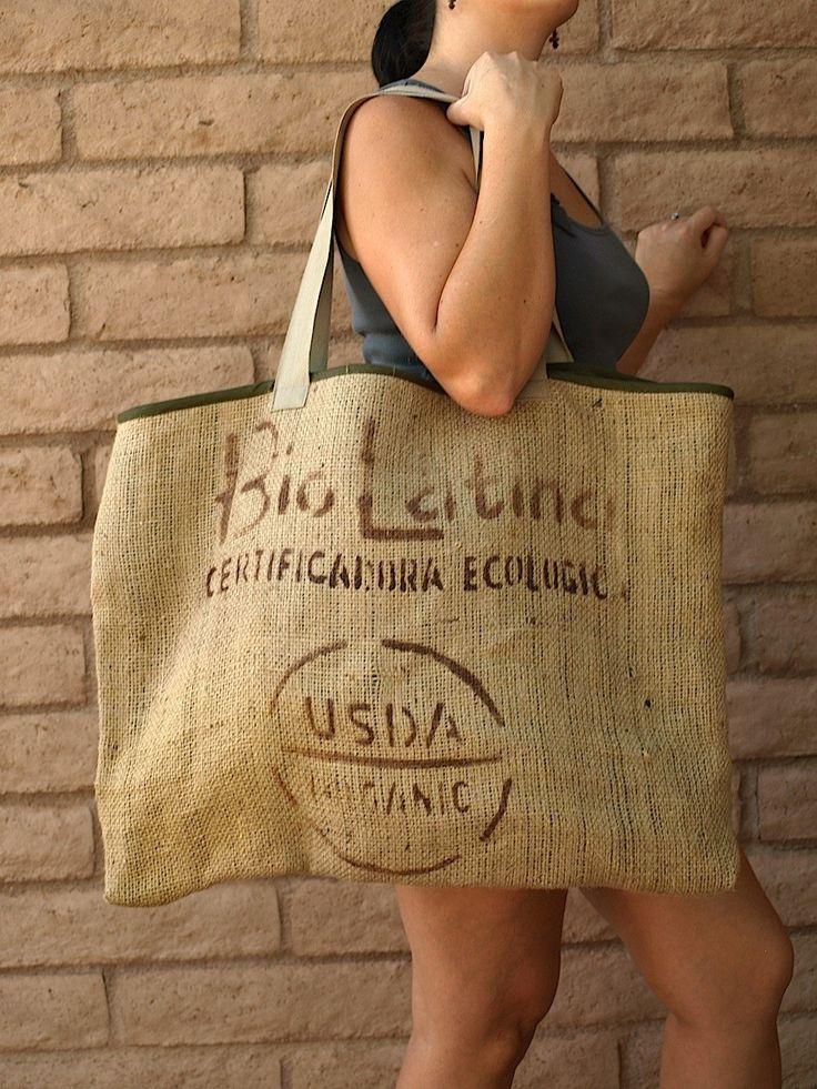 Coffee Bean Bag - BioLatina. $38.00, via Etsy.