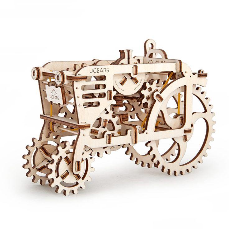 Трактор UGEARS - это механический 3D пазл из дерева. Оригинальный и экологичный конструктор для детей и взрослых.